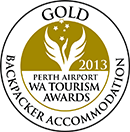 GOLD WA Tourism Awards Backpacker Accomodation 2013
